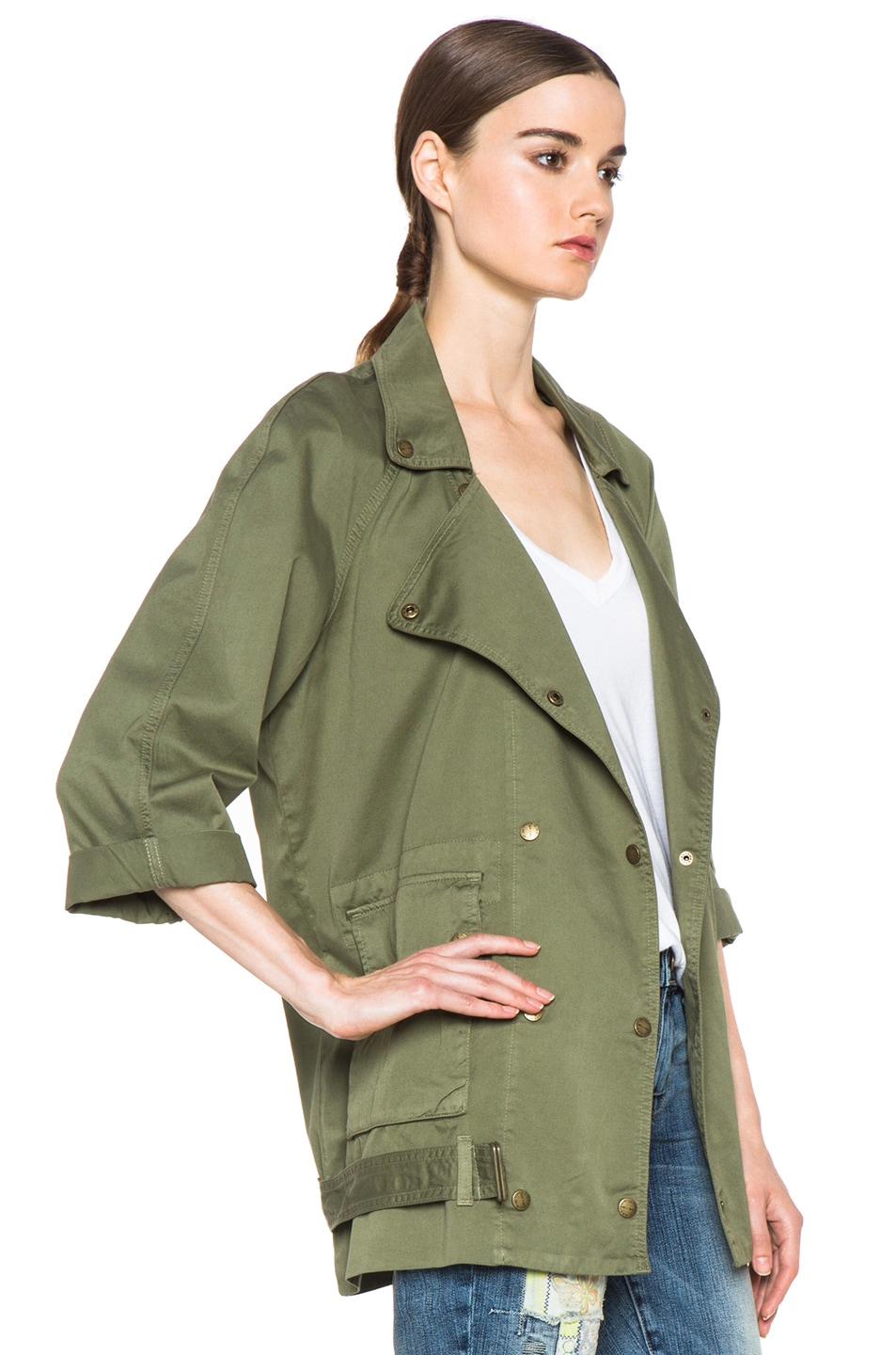 Image 4 of Current/Elliott The Infantry Cotton Jacket in Army