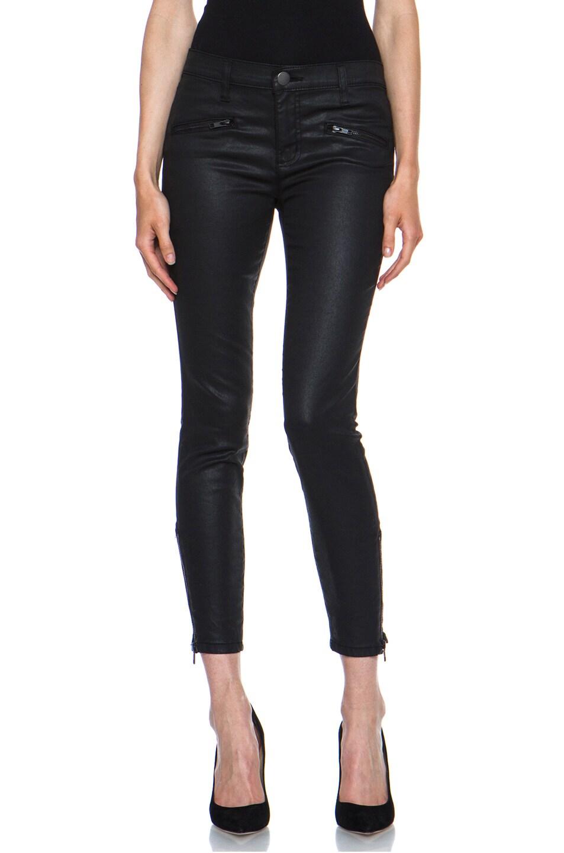Image 1 of Current/Elliott Soho Coated Zip Stiletto in Black