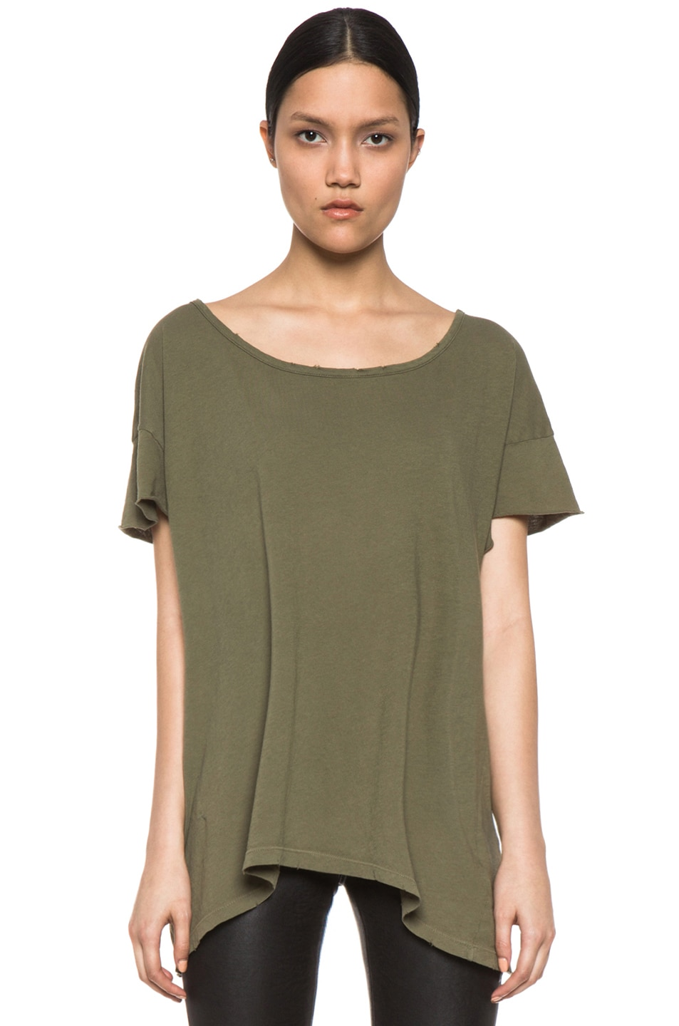 Image 1 of Current/Elliott The Oversize Tee in Light Army