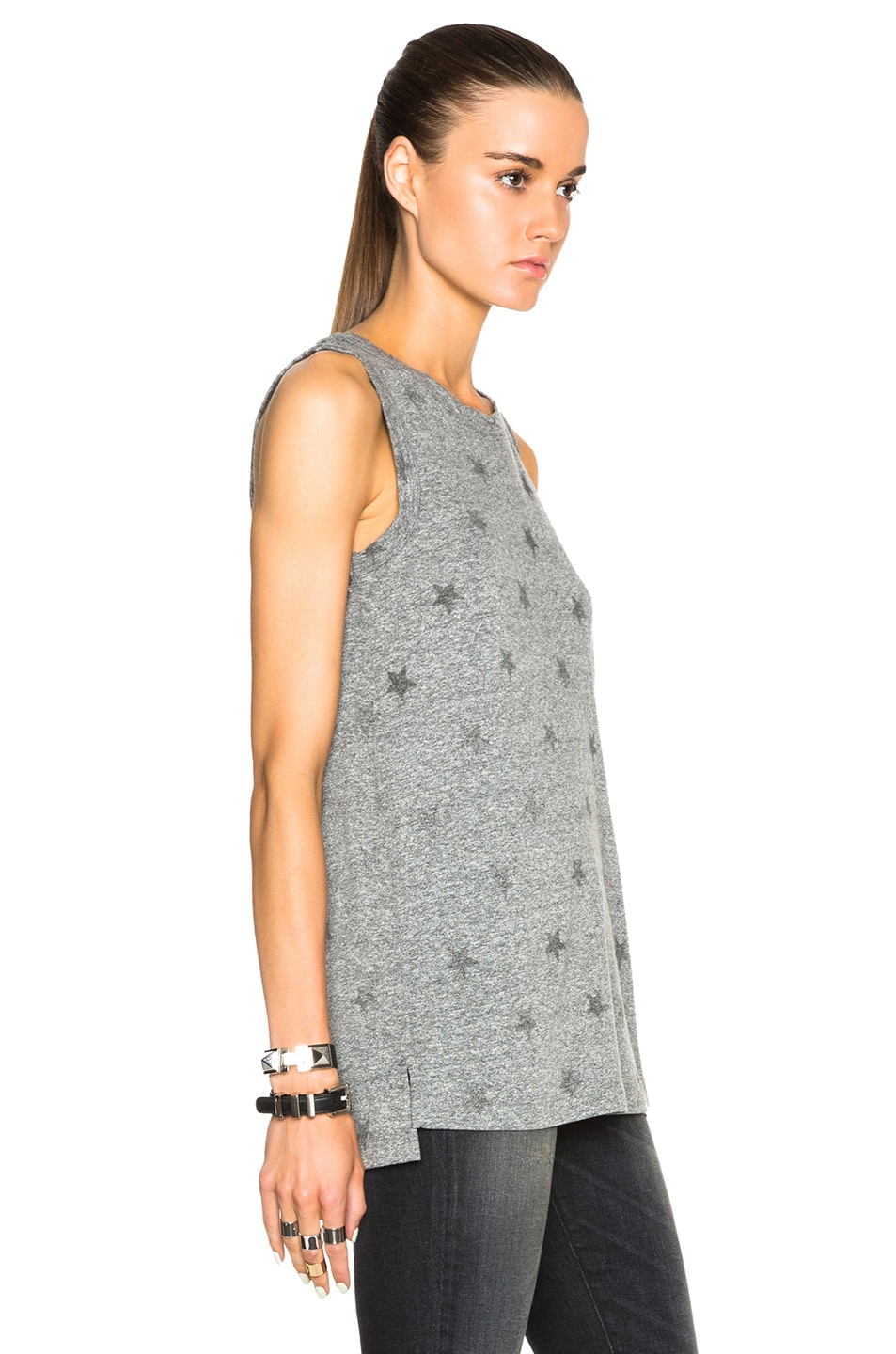e09fe47c01ea7 Image 3 of Current Elliott Muscle Tee in Heather Grey Stars