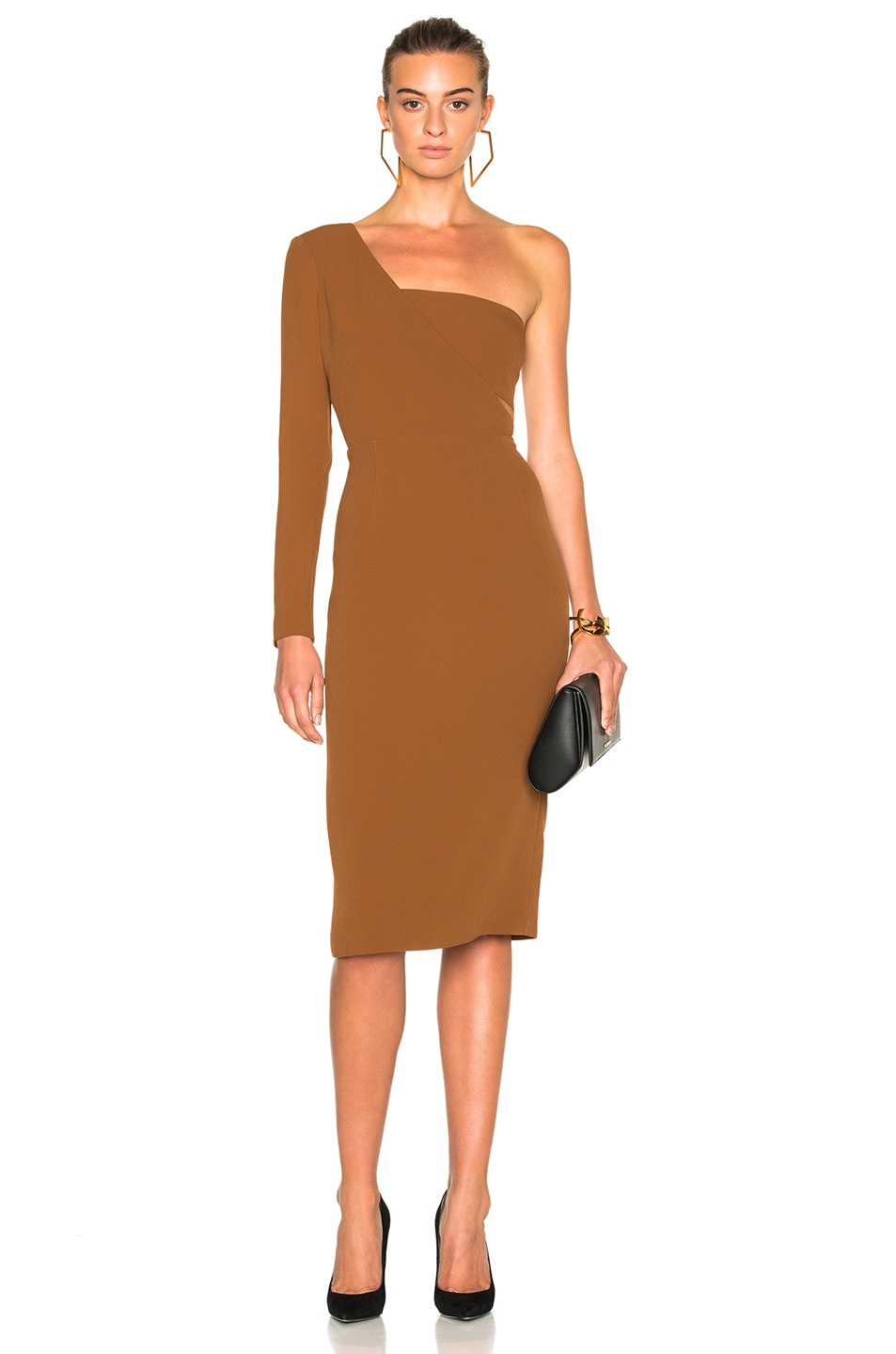 Image 1 of Cushnie et Ochs Stretch Cady Dress in Henna
