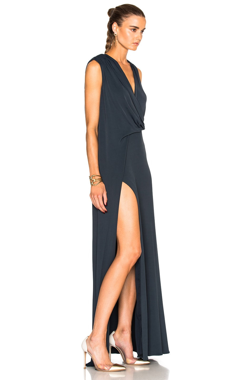 Image 3 of Cushnie Ibiza Dress in Lake