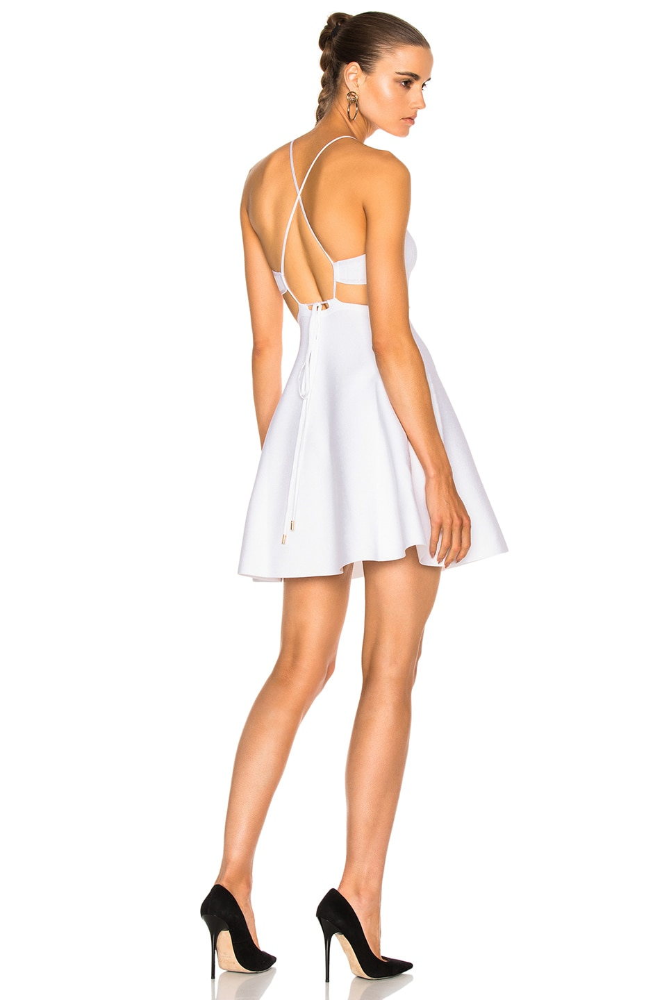Image 1 of Cushnie et Ochs Rayon Viscose Knit Dress in White
