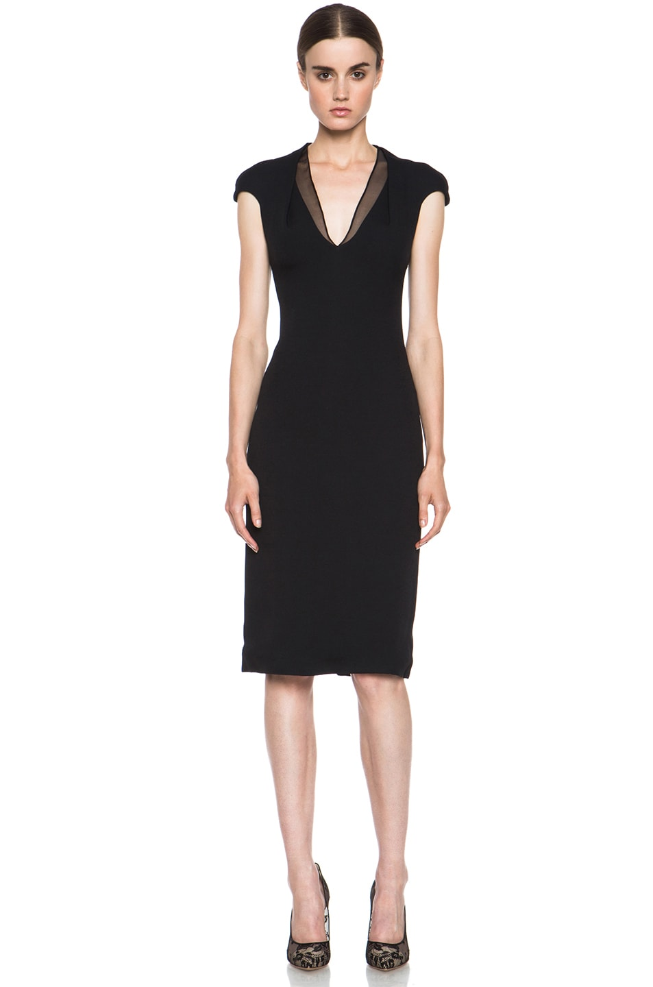 Image 1 of Cushnie et Ochs Acetate-Blend Dress in Black