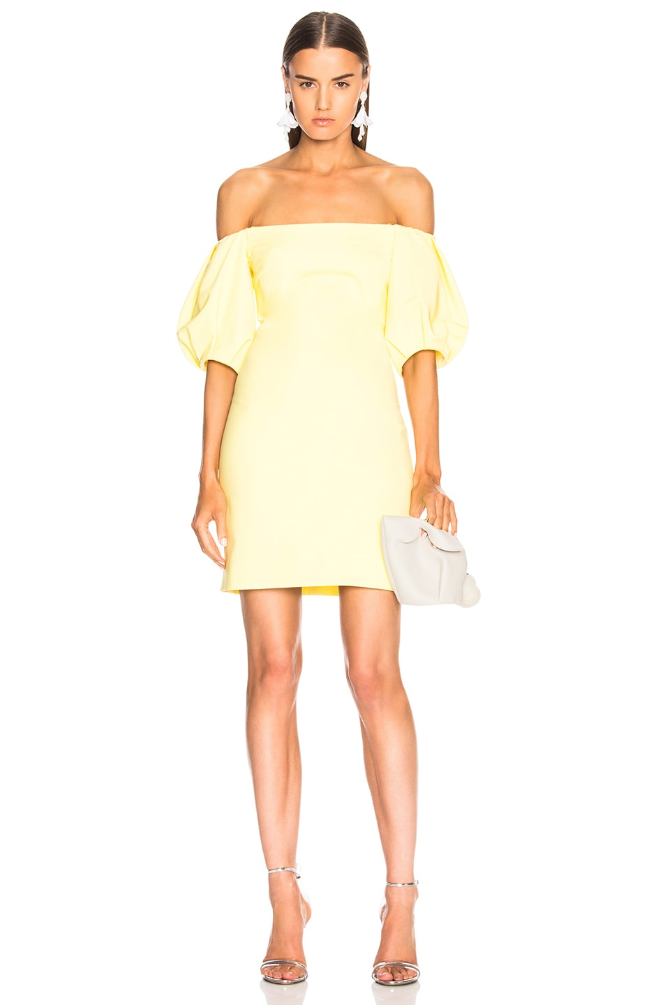 Cushnie et Ochs Silvia Dress in Yellow
