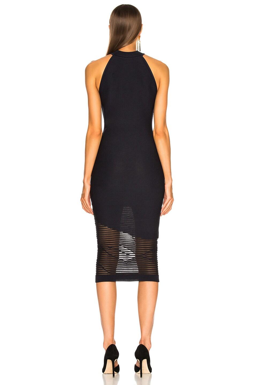 Image 4 of Cushnie Mock Neck Knit Dress in Ink & Black