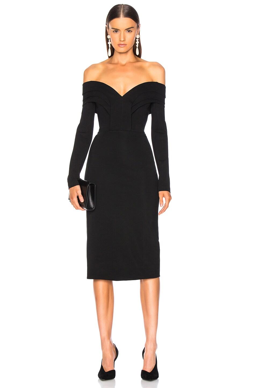 f6a2ef8934f5 Image 1 of Cushnie Off Shoulder Pencil Dress in Black