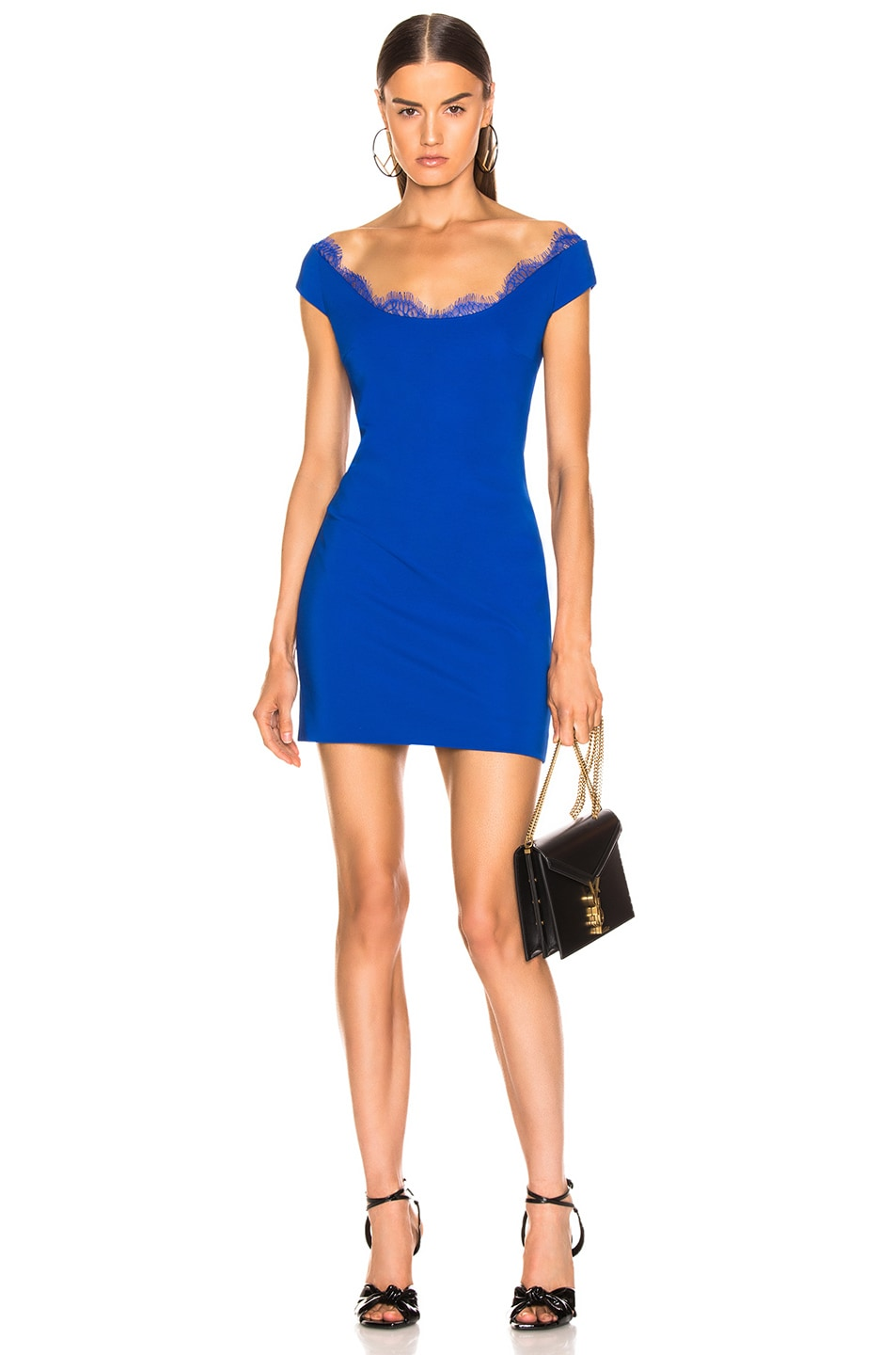 Image 1 of Cushnie Belle Mini Dress in Lapis