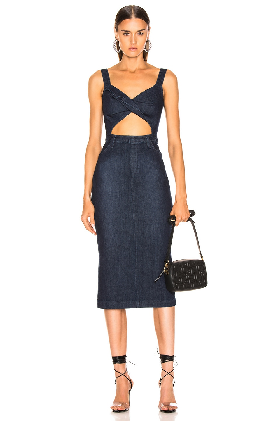 Image 1 of Cushnie x Lee Sleeveless Pencil Dress in Rinse Wash