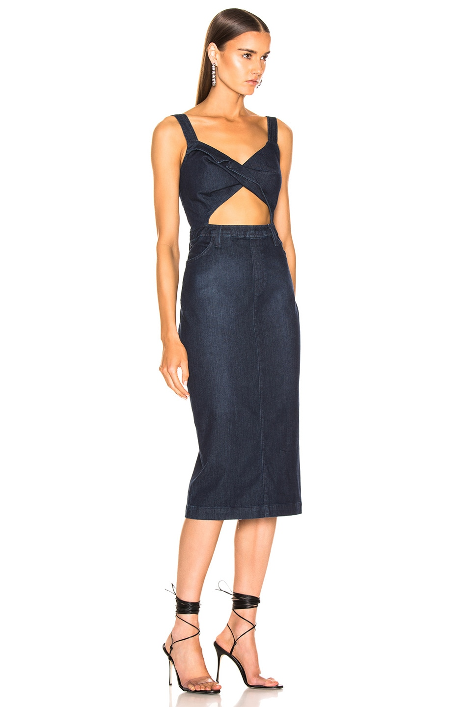 Image 2 of Cushnie x Lee Sleeveless Pencil Dress in Rinse Wash