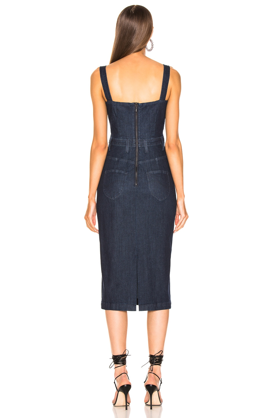 Image 3 of Cushnie x Lee Sleeveless Pencil Dress in Rinse Wash
