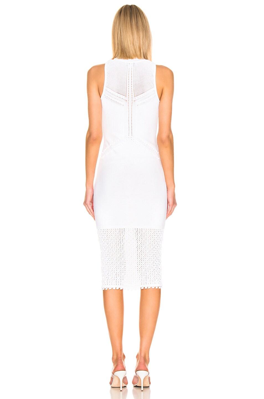 Image 3 of Cushnie Knit Pom Pom Trim Dress in White