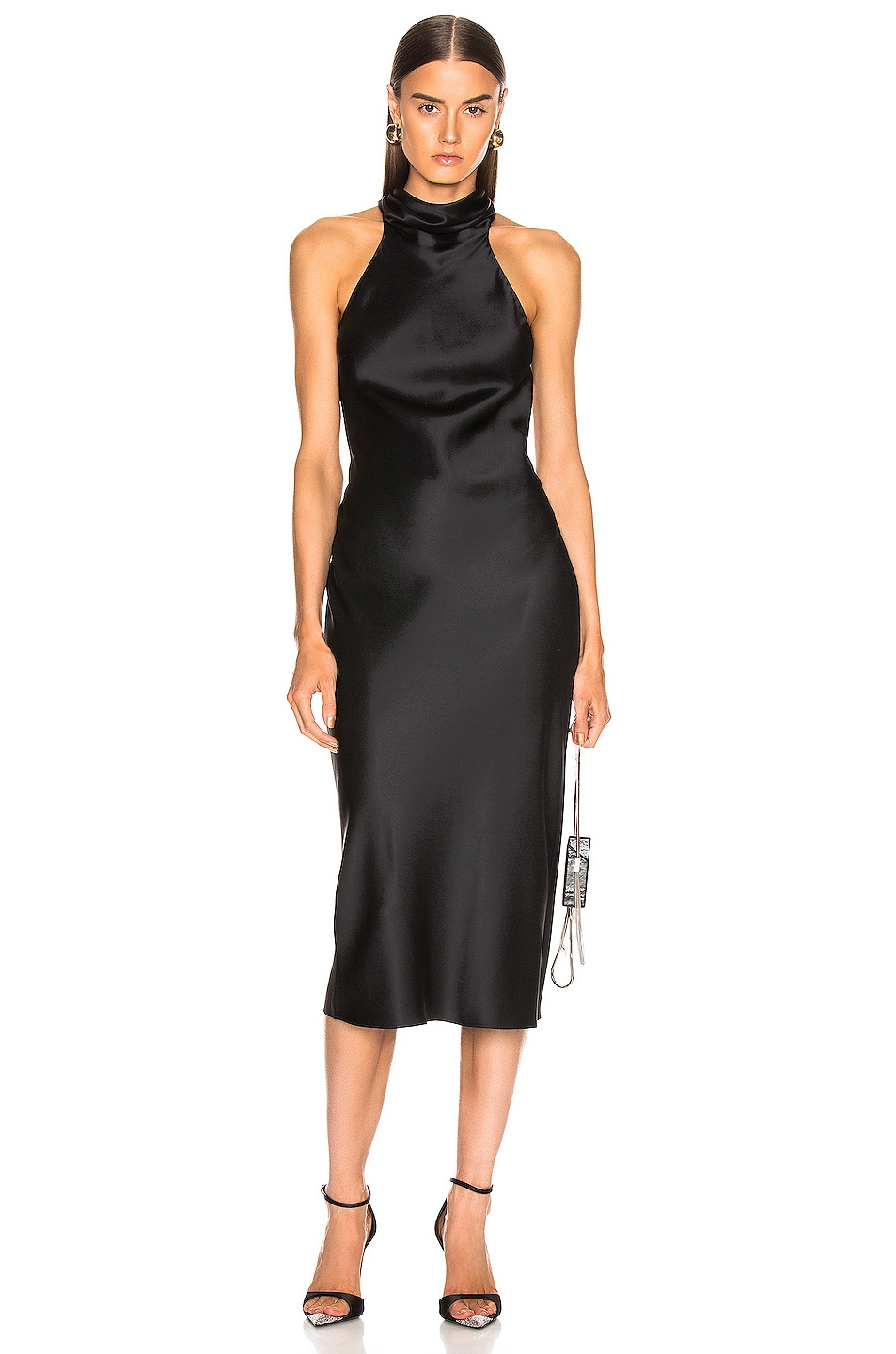 Image 1 of Cushnie Sleeveless High Neck Pencil Dress in Black