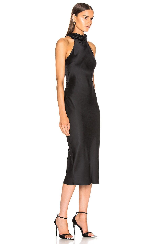 Image 2 of Cushnie Sleeveless High Neck Pencil Dress in Black