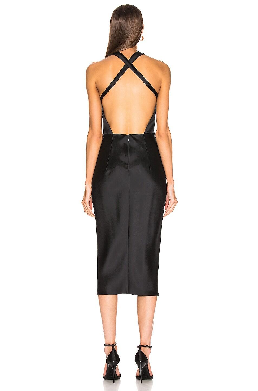 Image 3 of Cushnie Sleeveless High Neck Pencil Dress in Black