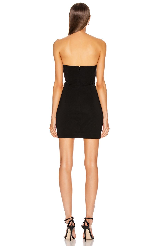 Image 3 of Cushnie Strapless Bustier Mini Dress in Black