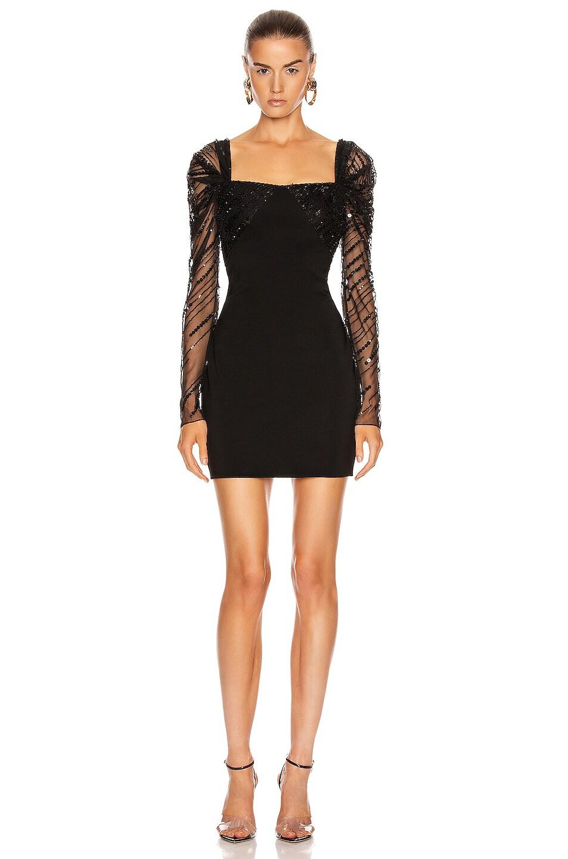 Image 2 of Cushnie Off the Shoulder Mini Dress in Black