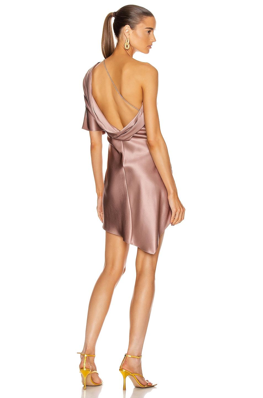 Image 1 of Cushnie One Shoulder Mini Dress in Dune