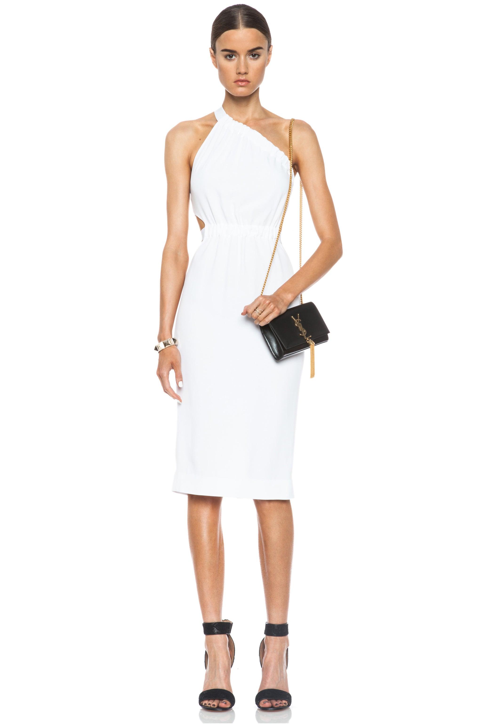 Image 1 of Cushnie et Ochs Asymmetrical Acetate-Blend Dress in White