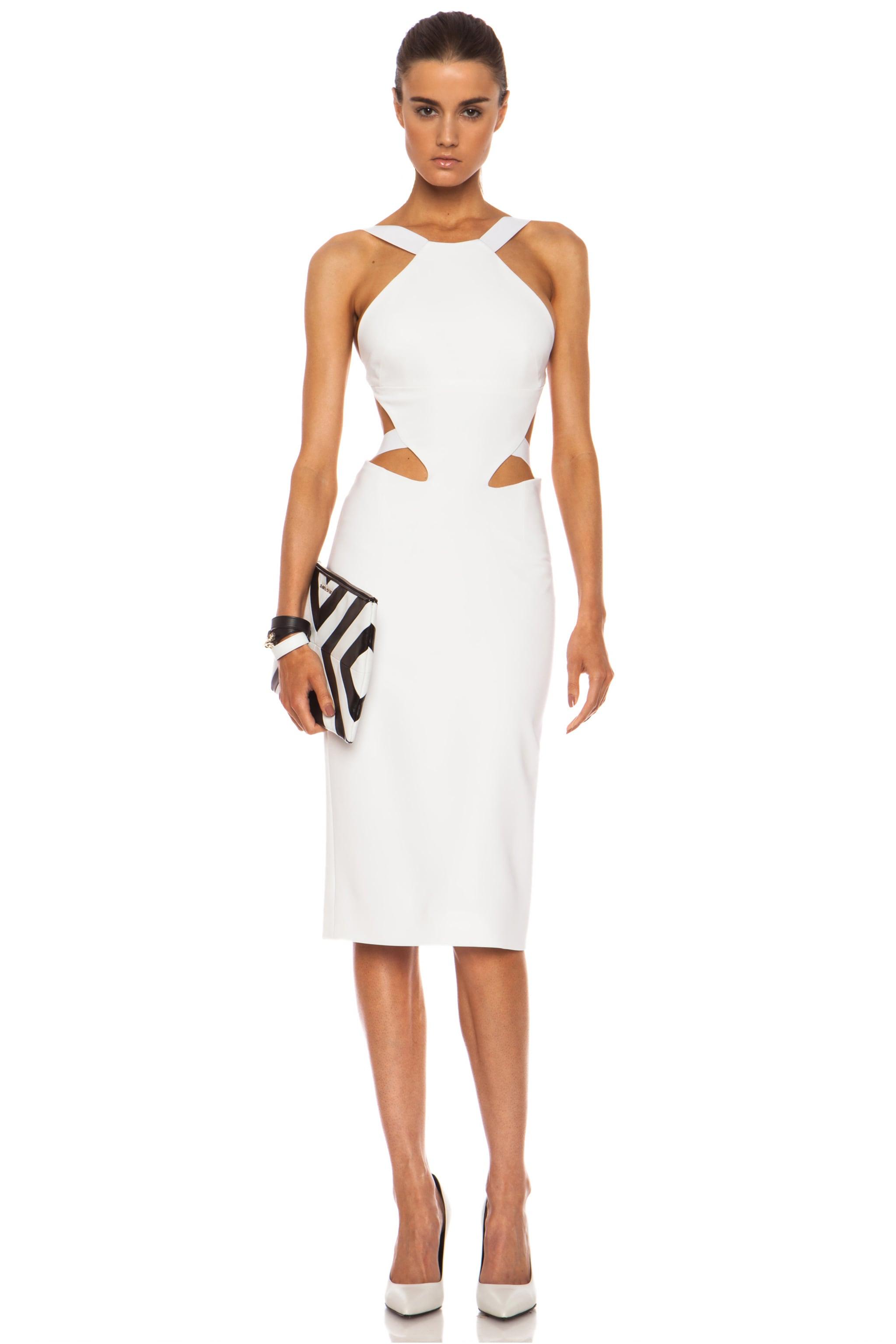 Image 1 of Cushnie Viscose-Blend Halter Dress in White