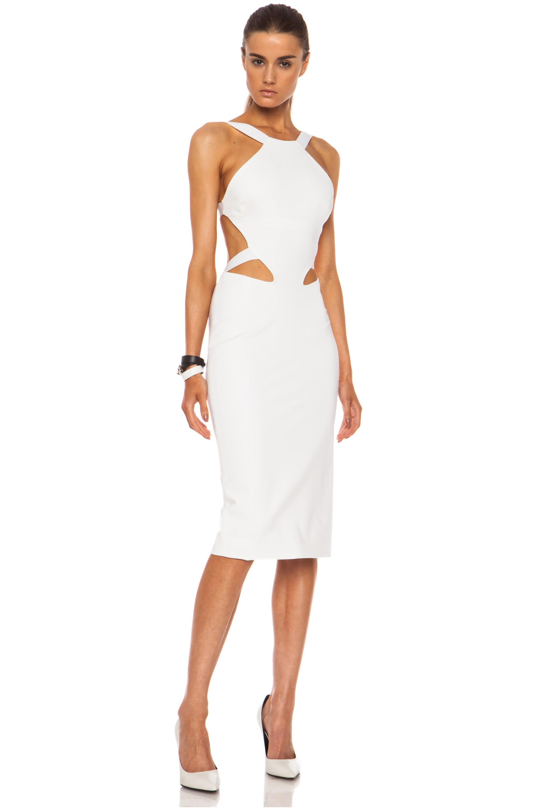 Image 3 of Cushnie Viscose-Blend Halter Dress in White
