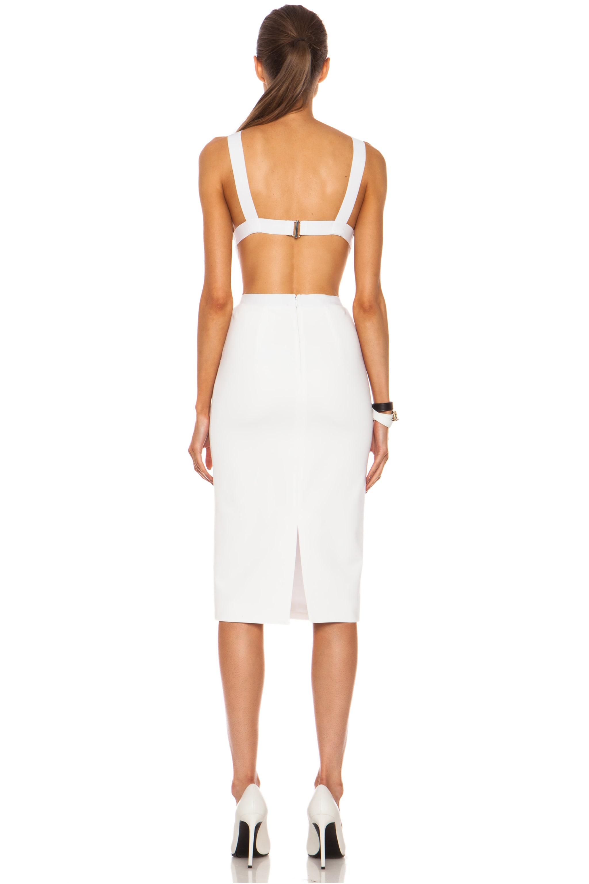 Image 4 of Cushnie Viscose-Blend Halter Dress in White