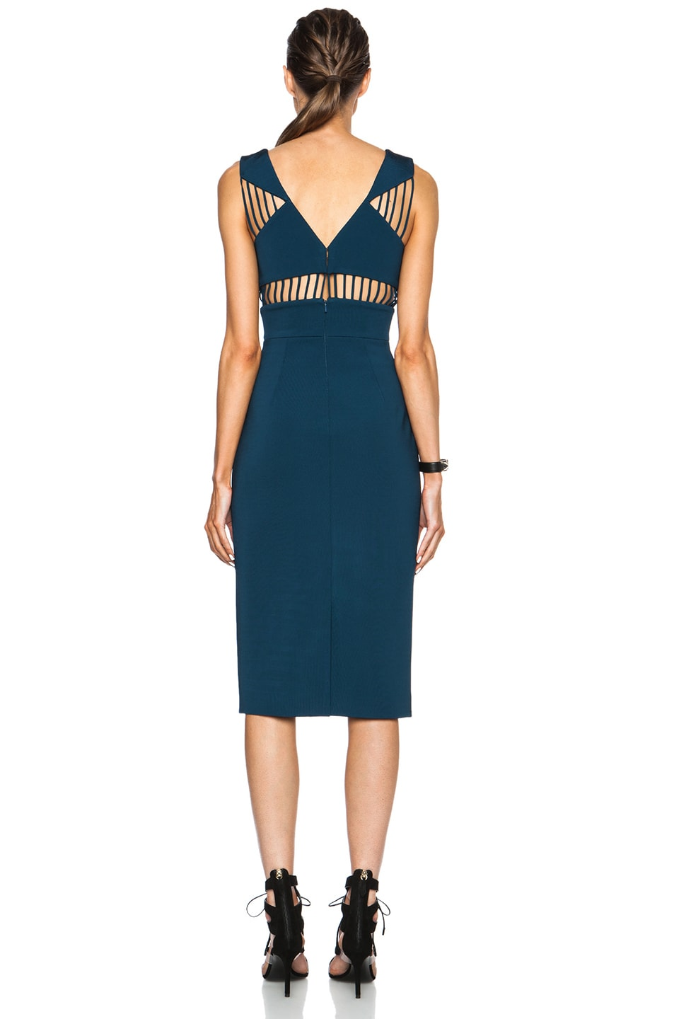 Image 4 of Cushnie et Ochs FORWARD EXCLUSIVE Power Viscose-Blend Dress in Blue Nile