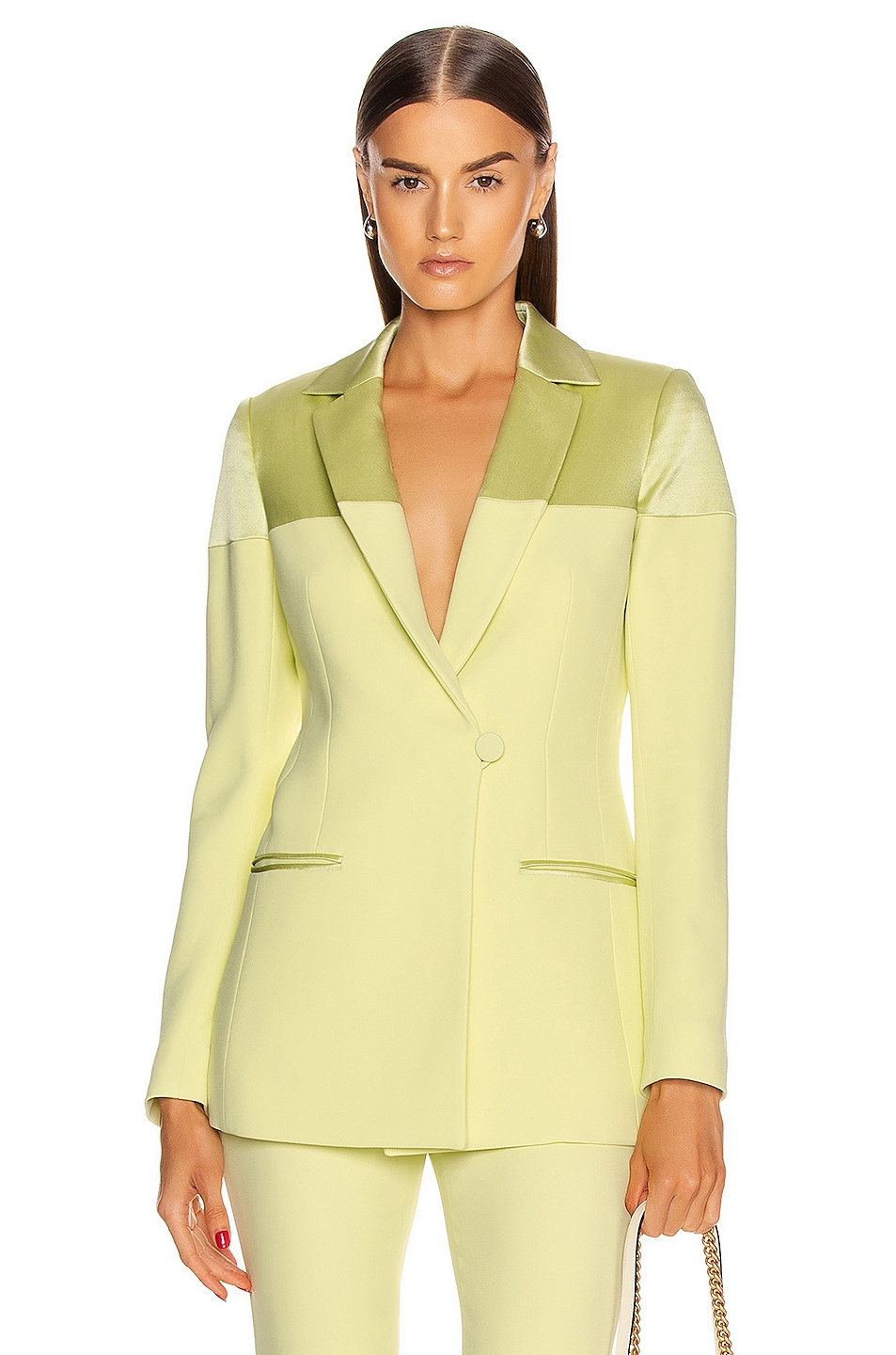 Image 1 of Cushnie Fitted Jacket in Celery