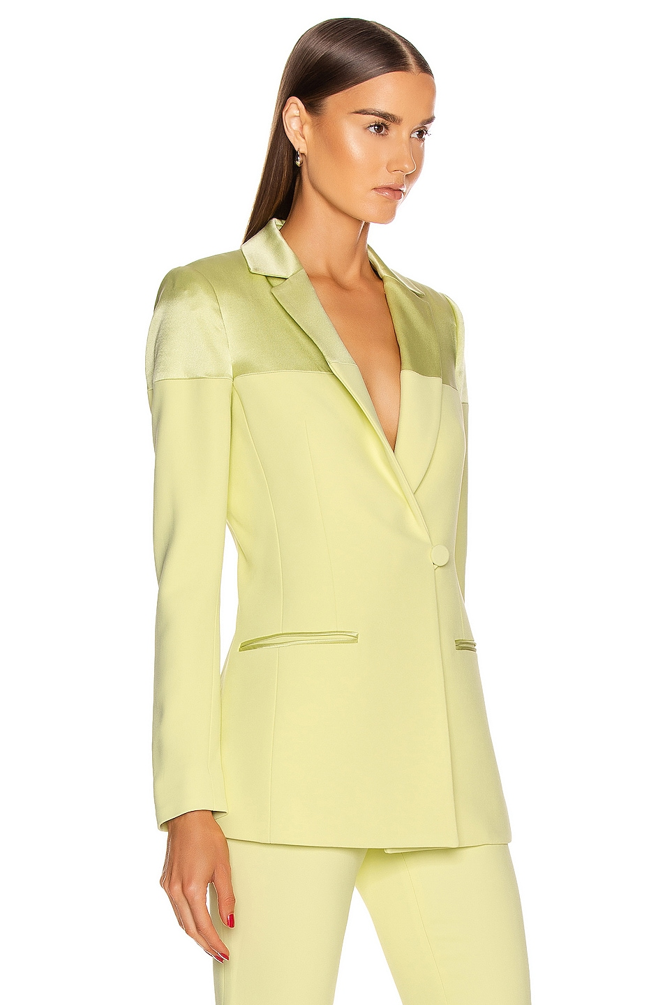 Image 2 of Cushnie Fitted Jacket in Celery
