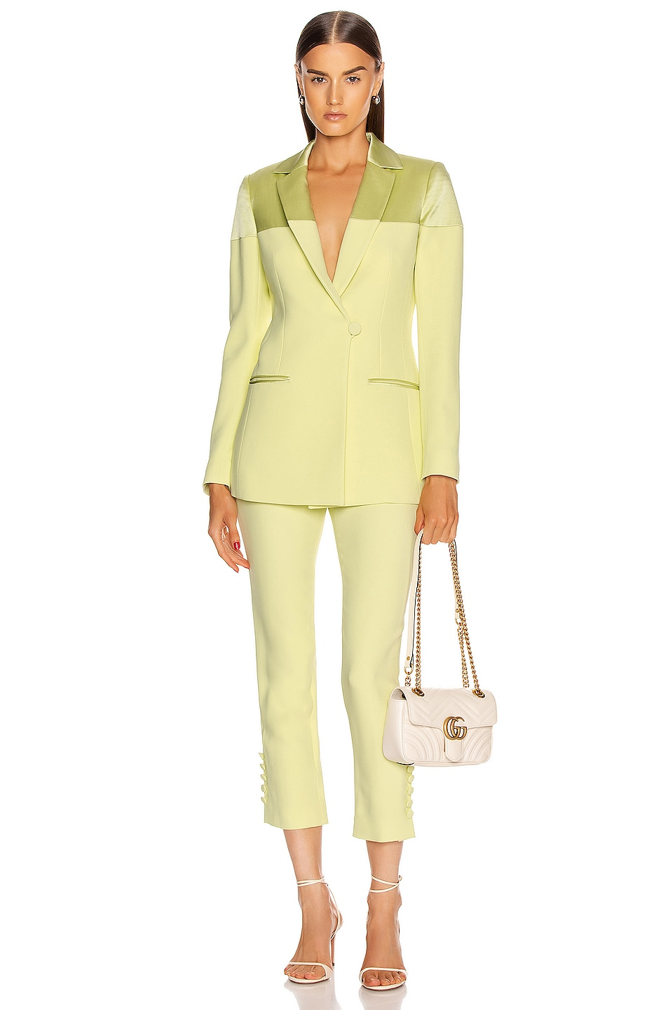 Image 4 of Cushnie Fitted Jacket in Celery