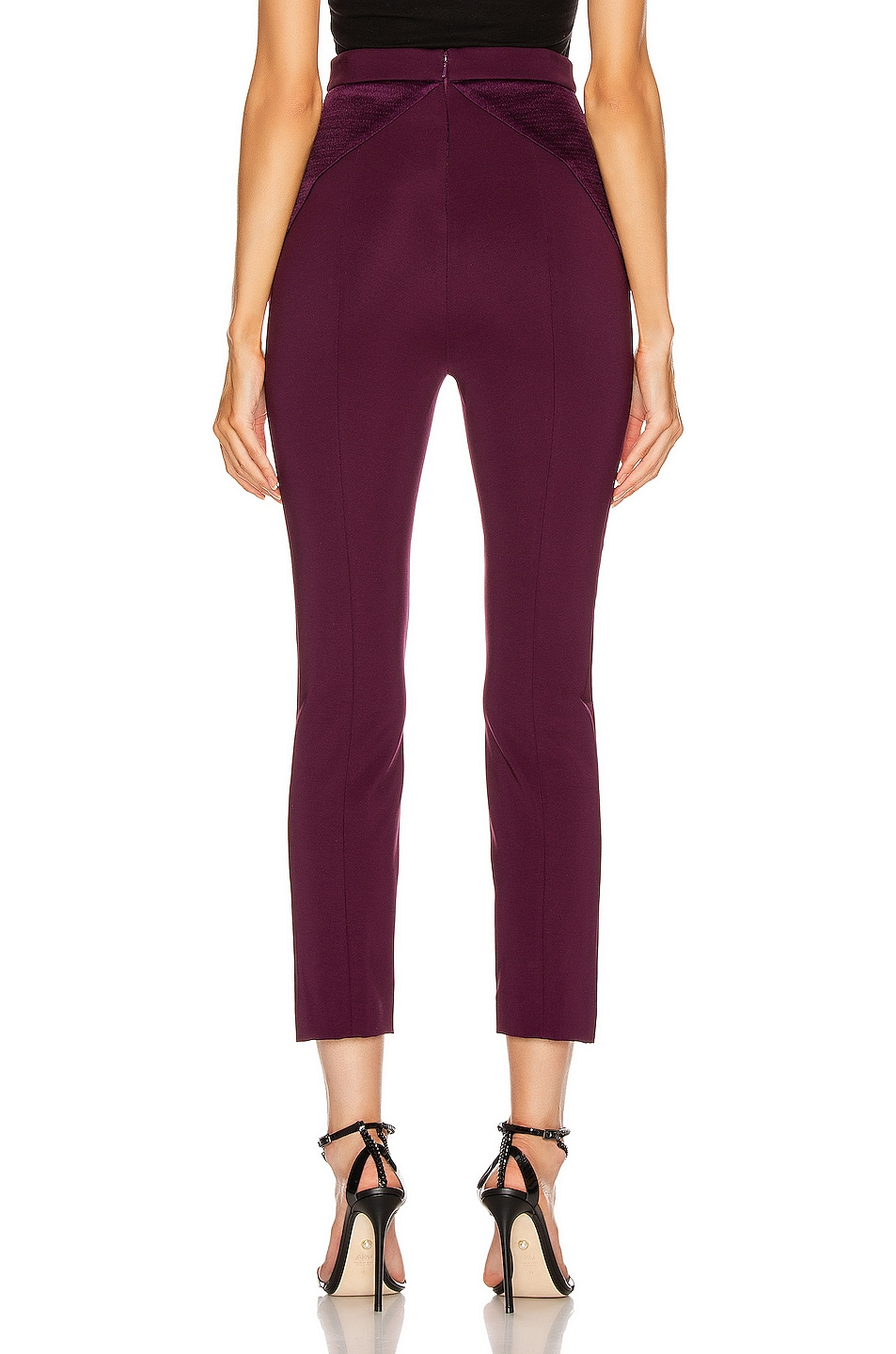 Image 3 of Cushnie High Waisted Fitted Cropped Pant in Plum