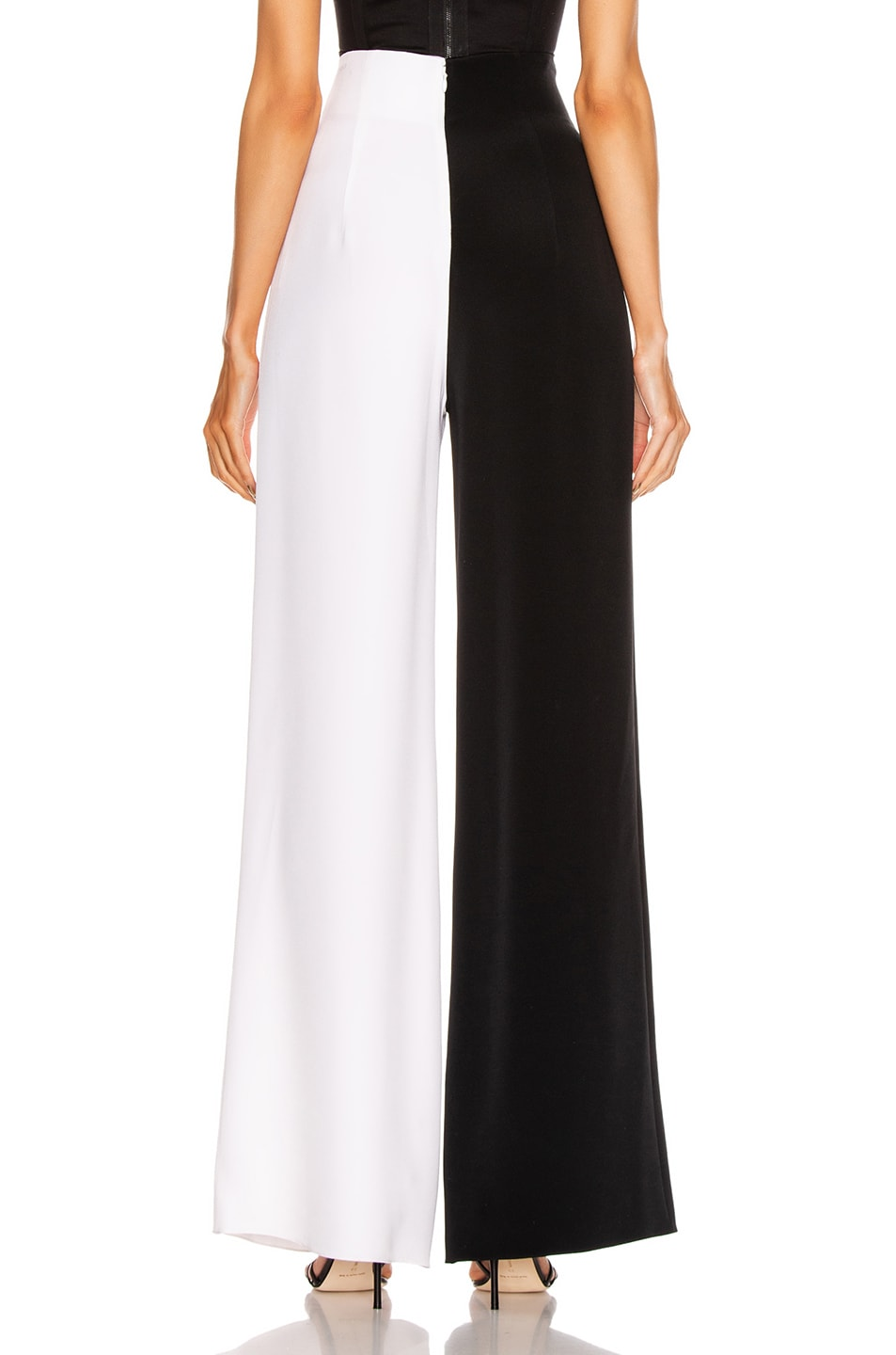 Image 4 of Cushnie High Waisted Wide Leg Pant in Black & White