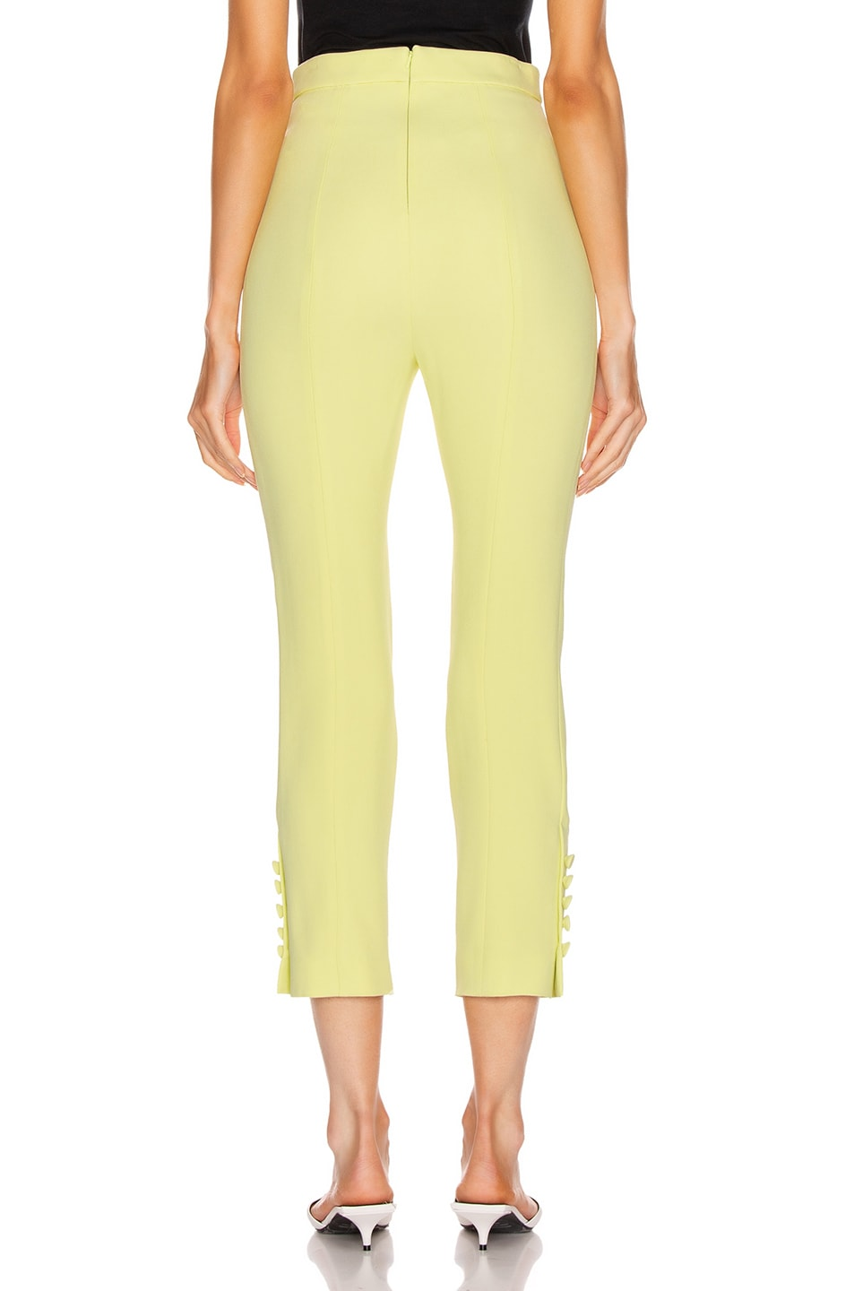Image 3 of Cushnie High Waisted Cropped Pant in Celery