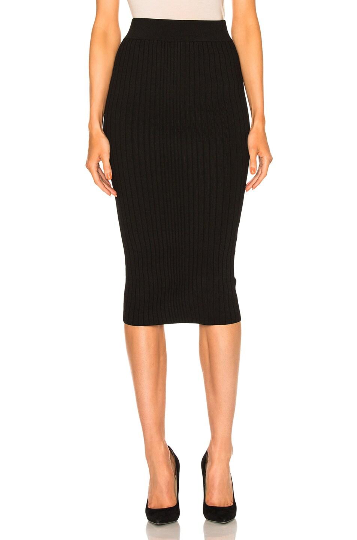 Image 1 of Cushnie et Ochs Crisscross Waistband Pencil Skirt in Black