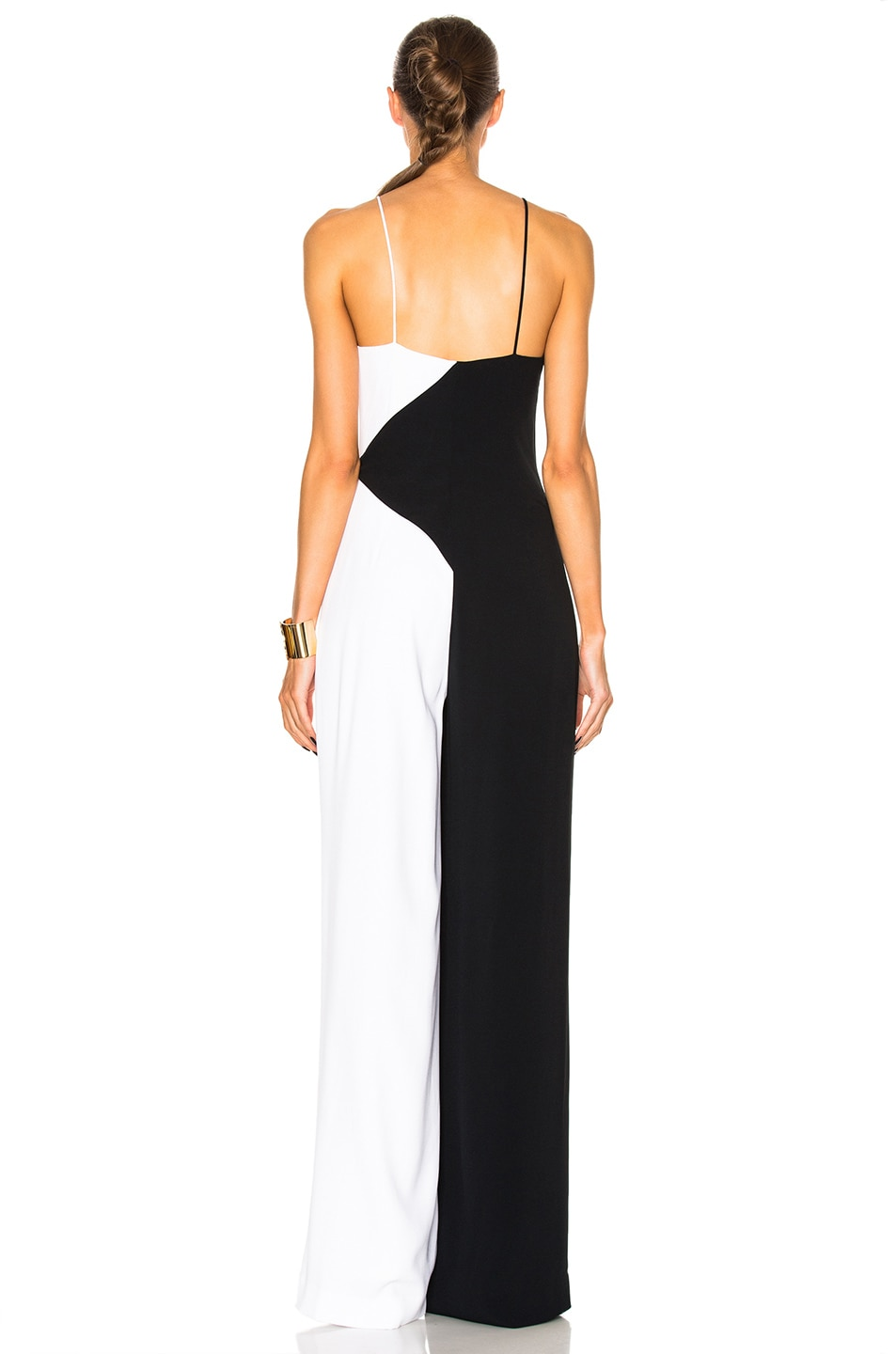 Image 4 of Cushnie Two Tone Wide Leg Jumpsuit in Black & White