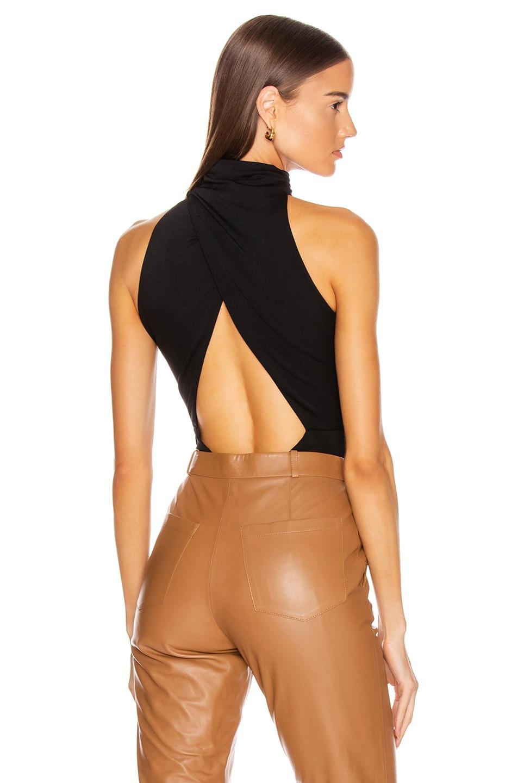 Image 1 of Cushnie High Neck Sleeveless Bodysuit in Black