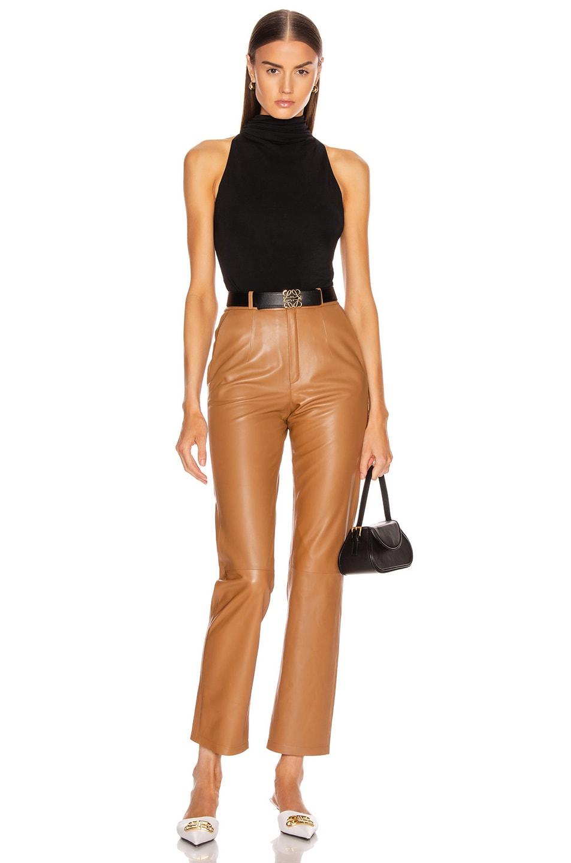 Image 5 of Cushnie High Neck Sleeveless Bodysuit in Black