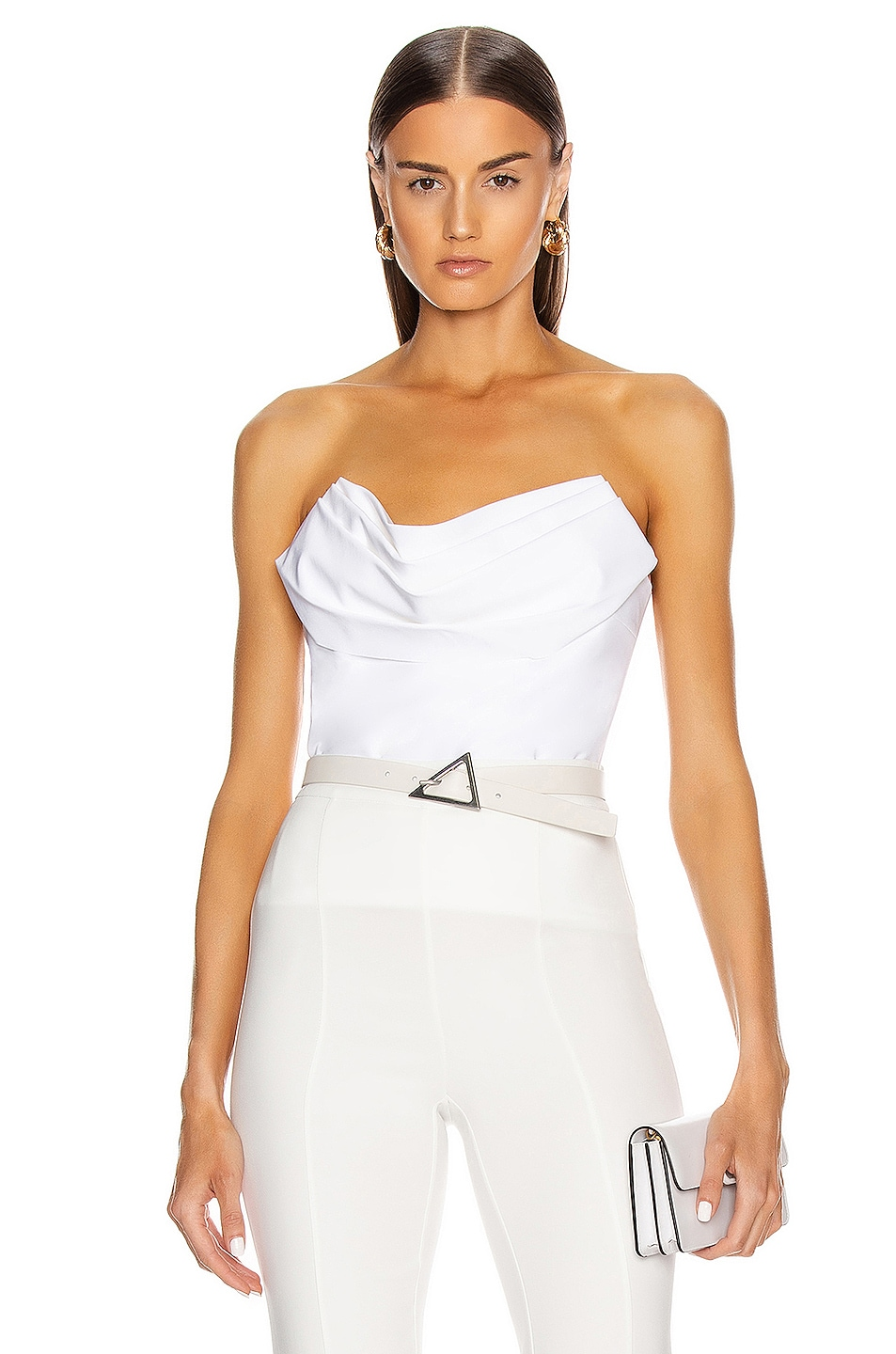 Image 1 of Cushnie Strapless Corset Top in White