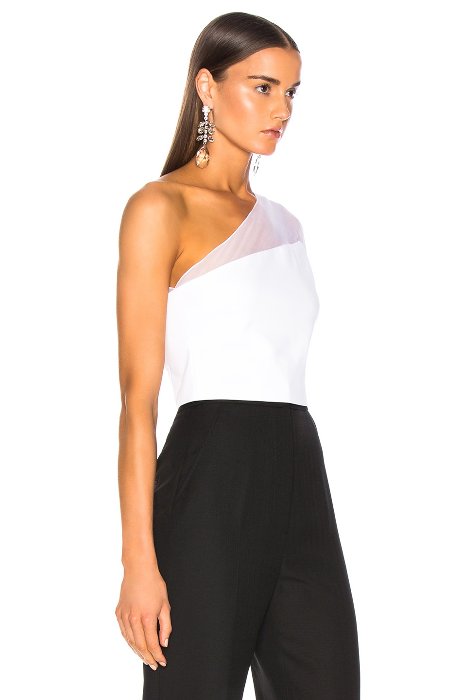 Image 2 of Cushnie One Shoulder Bell Top in White