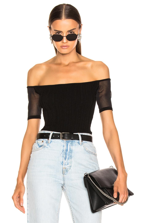 Image 1 of Cushnie Estela Bodysuit in Black