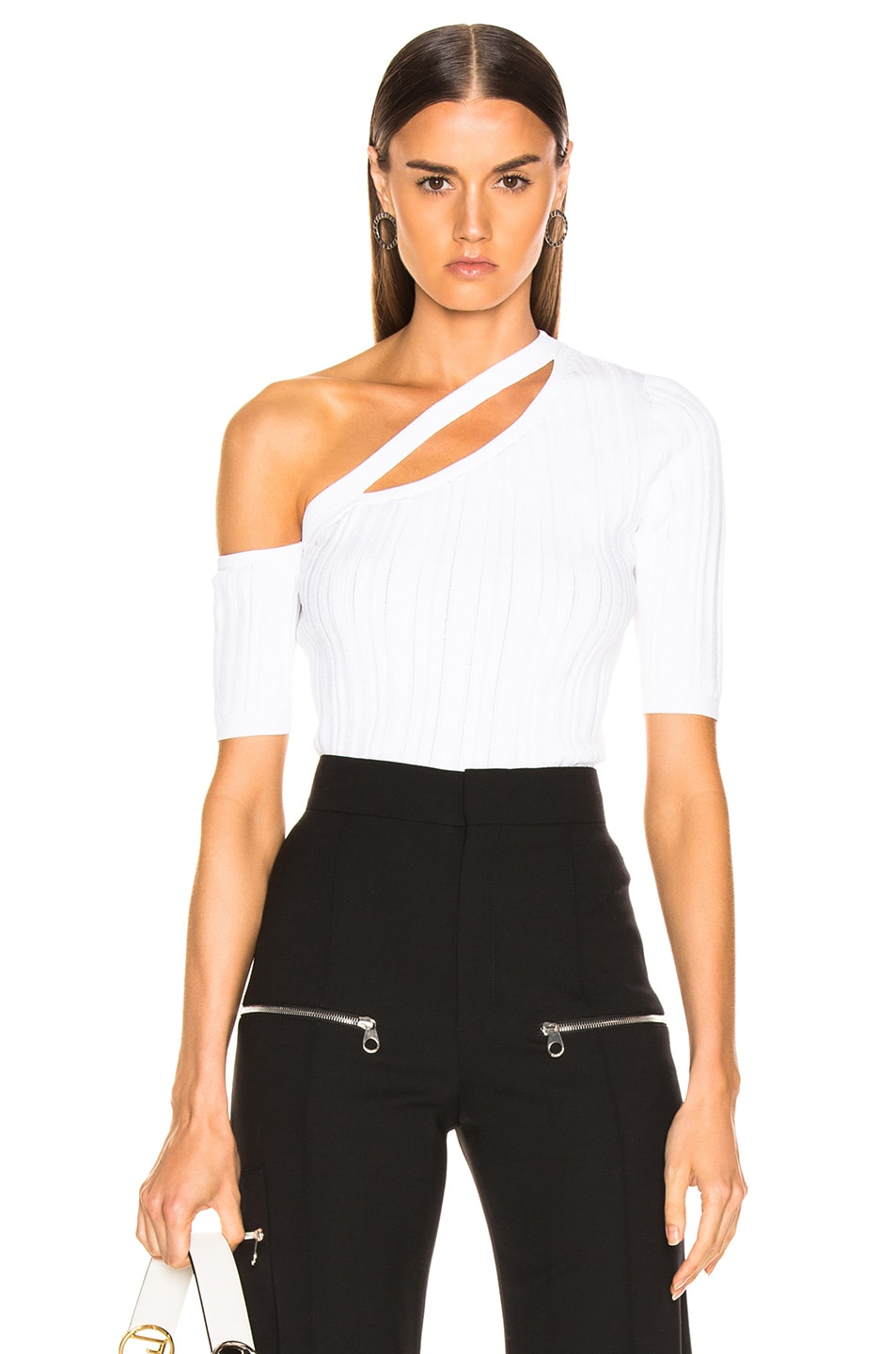 6dc847902a11 Image 1 of Cushnie Emmy Top in White