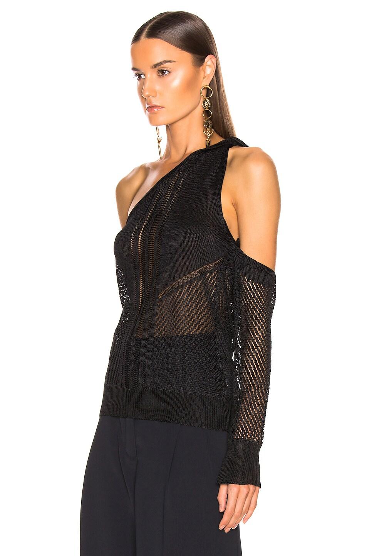 Image 3 of Cushnie Cold Shoulder Knit Top in Black