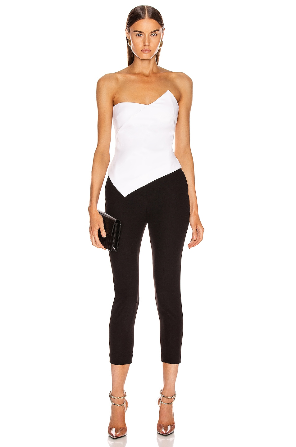 Image 5 of Cushnie Strapless Asymmetrical Corset Top in White