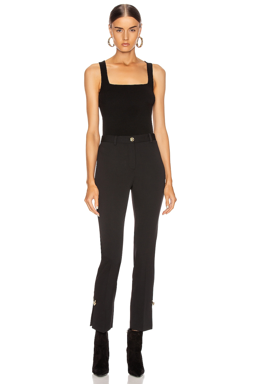 Image 4 of Cushnie Square Neck Knit Tank Top in Black