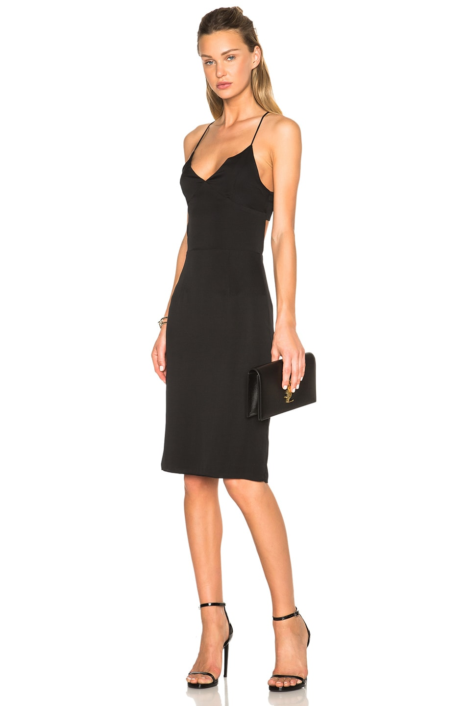 Image 1 of Curriculum Vitae Margot Slip Dress in Black