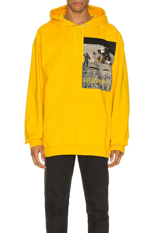Image 1 of Calvin Klein Est. 1978 Moon Landings Hoodie in Lemon Chrome