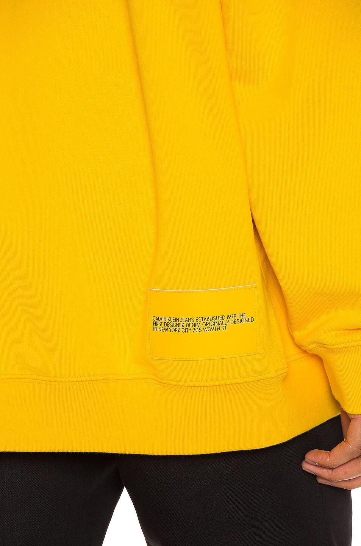 Image 7 of Calvin Klein Est. 1978 Moon Landings Hoodie in Lemon Chrome