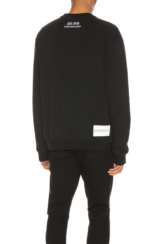 Image 3 of Calvin Klein Est. 1978 Graphic Crewneck Sweatshirt in Black Beauty