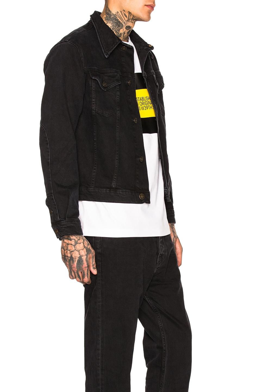 Image 2 of Calvin Klein Est. 1978 Trucker Denim Jacket in Black Stone