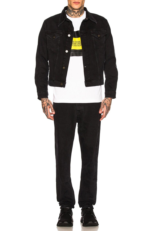Image 4 of Calvin Klein Est. 1978 Trucker Denim Jacket in Black Stone